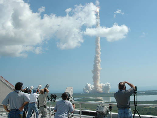 The launch of STS-114.